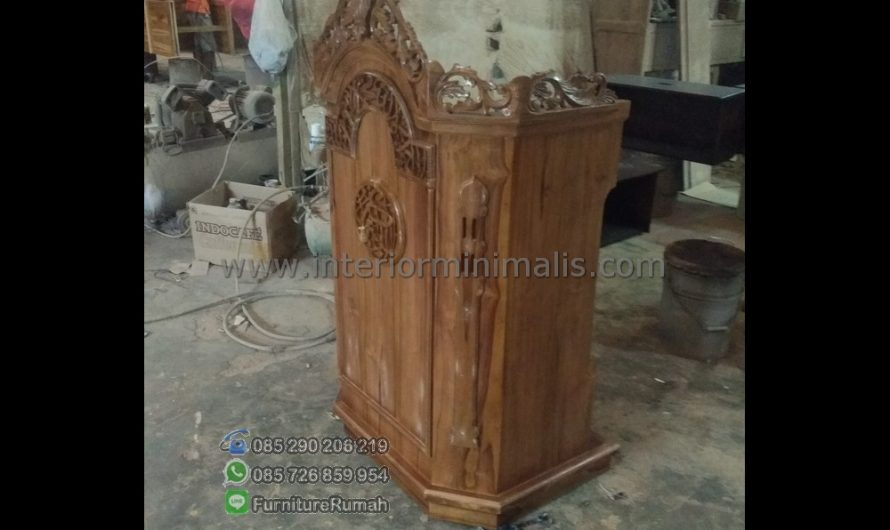Furniture Jati Harga Mimbar Pidato Minimalis MM 511
