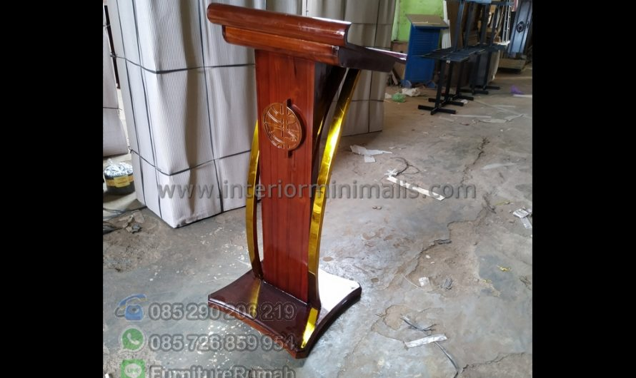 Furniture Jati Jual Mimbar Masjid Minimalis MM 823