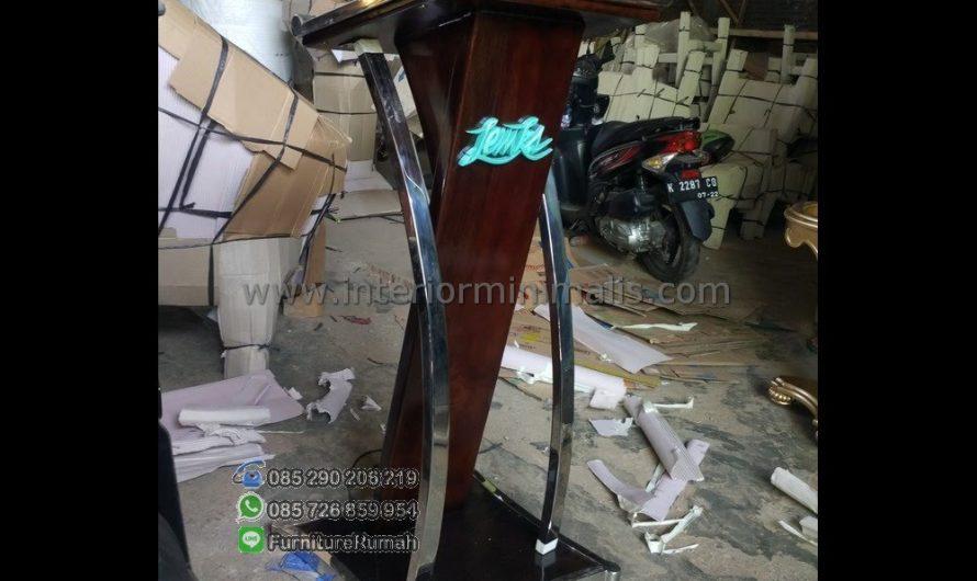 Furniture Jati Mimbar Masjid Besi MM 559