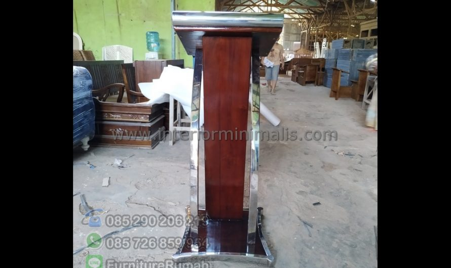 Furniture Jati Podium Minimalis Stainless MM 703