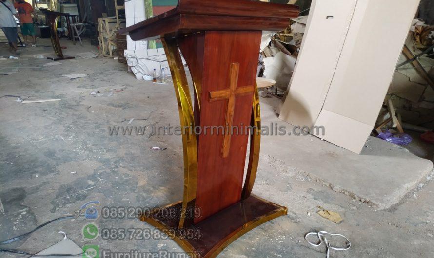 Furniture Jepara Desain Mimbar Masjid Minimalis MM 821