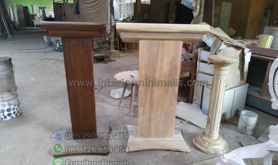 Furniture Jepara Meja Mimbar Minimalis MM 797