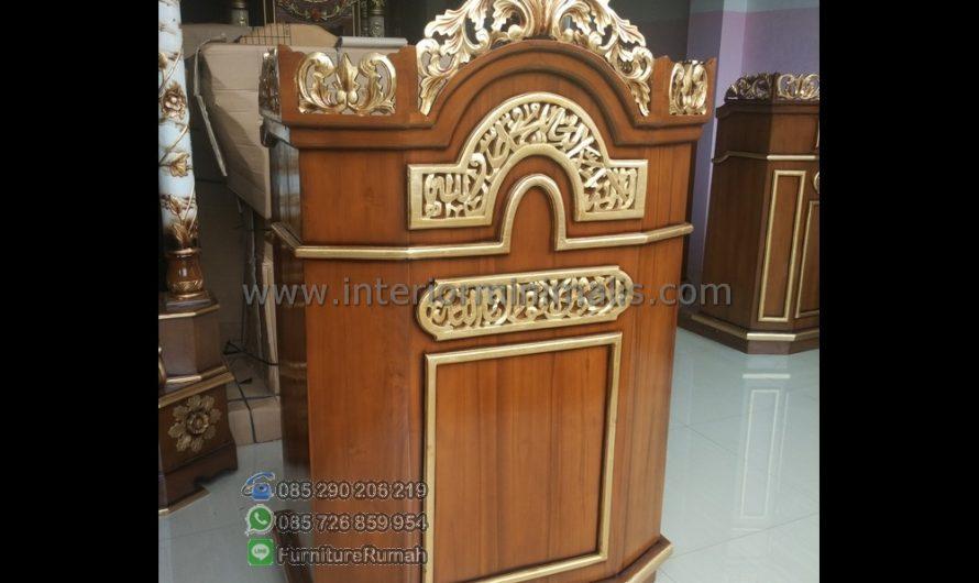 Furniture Jepara Mimbar Podium Masjid Minimalis MM 509