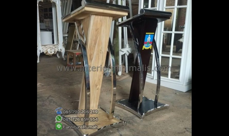 Furniture Minimalis Gambar Mimbar Masjid Dari Kayu Jati MM 603