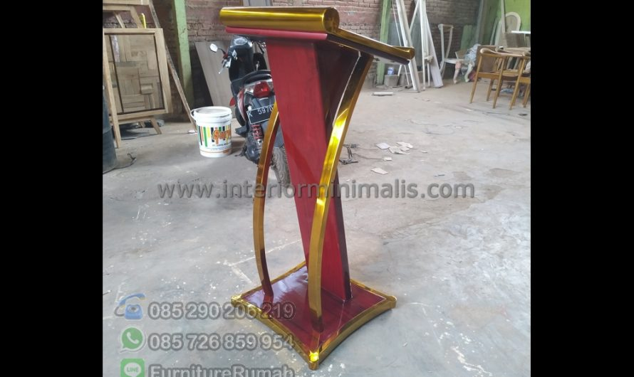 Furniture Minimalis Mimbar Minimalis Kayu Jati MM 771