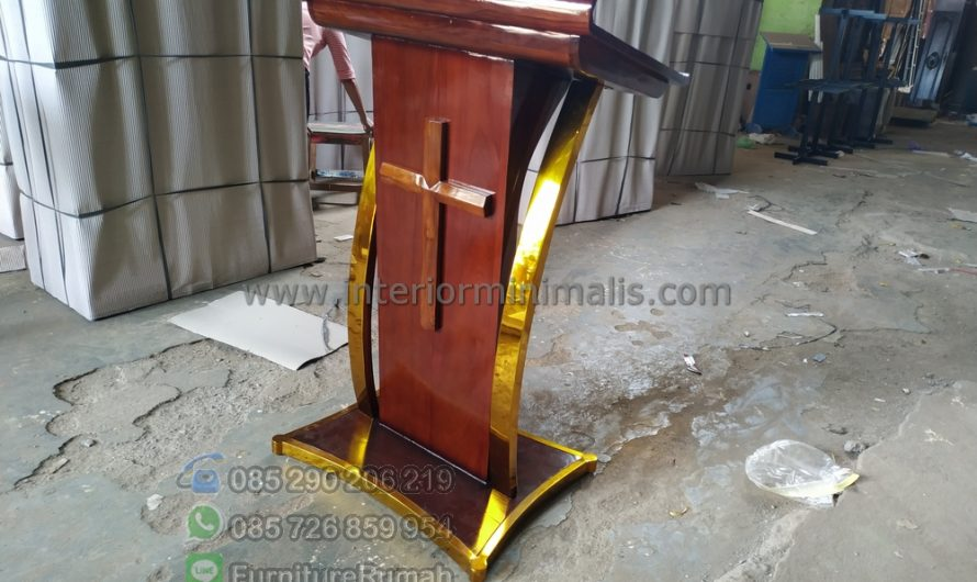 Furniture Minimalis Model Mimbar Masjid Minimalis MM 819