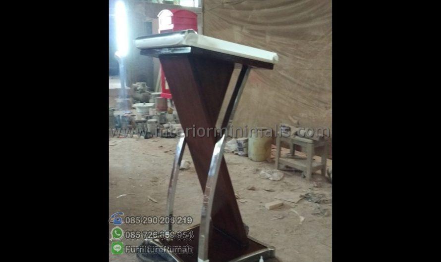 Furniture Modern Contoh Mimbar Gereja Minimalis MM 491