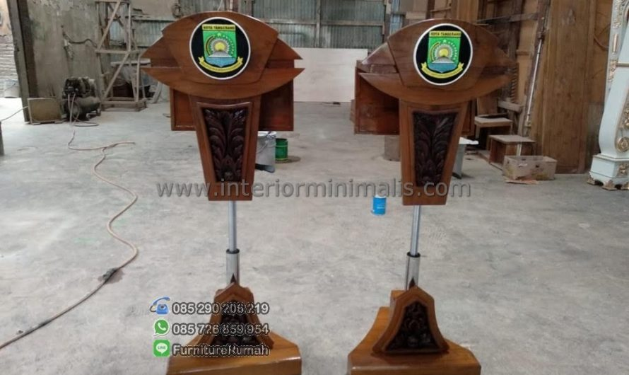 Furniture Modern Harga Mimbar Masjid Kayu Jati MM 611