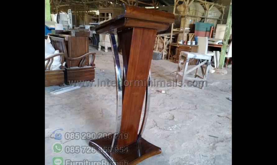 Furniture Modern Mimbar Jati Dan Harga MM 755
