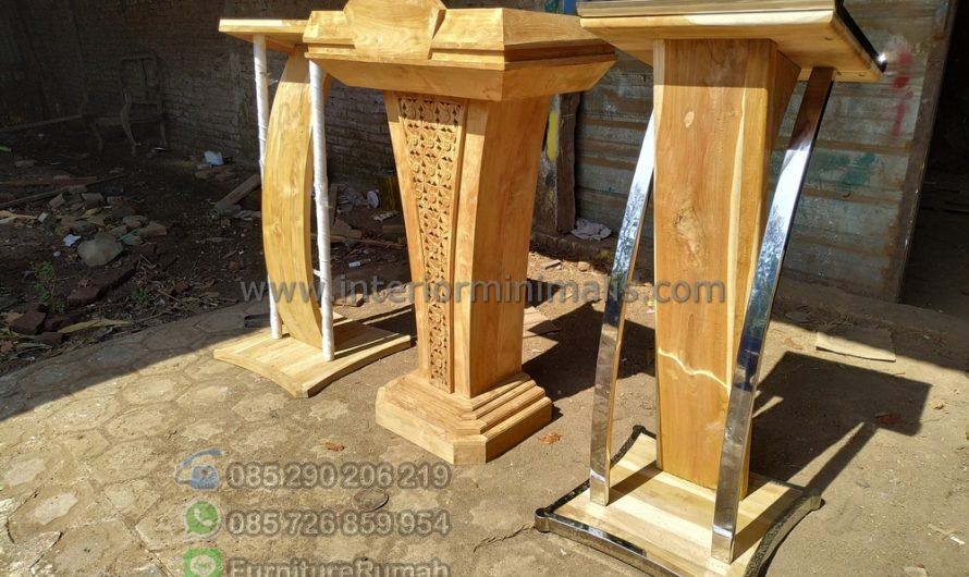 Furniture Modern Podium Kayu Jati MM 779