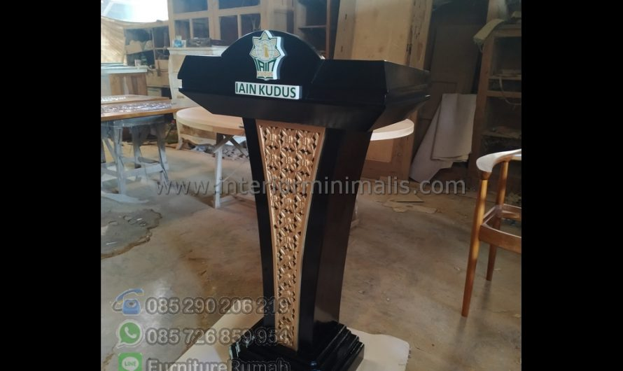 Furniture Stock Foto Podium Jati MM 782