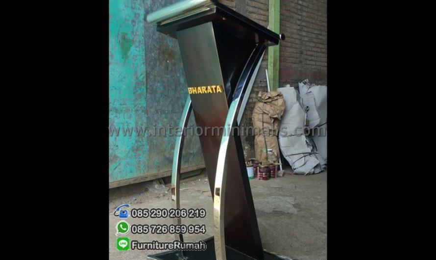 Furniture Stock Gambar Mimbar Podium Kayu Jati MM 470
