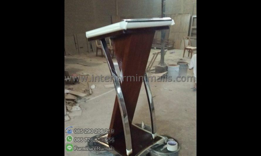 Furniture Terlaris Harga Mimbar Gereja Minimalis MM 492