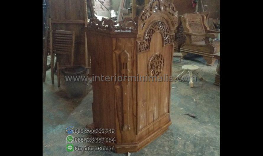 Mebel Jati Harga Mimbar Podium Minimalis MM 512