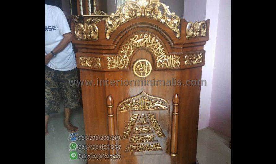 Mebel Minimalis Jual Mimbar Masjid Minimalis MM 508