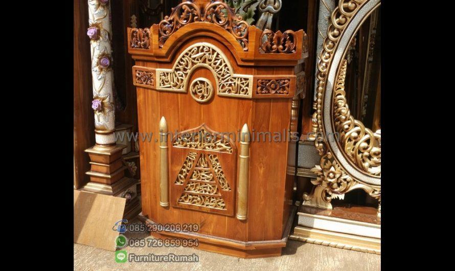 Mebel Terbaru Model Mimbar Masjid Minimalis MM 504