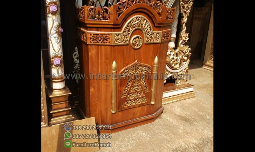Paling Laku Desain Mimbar Masjid Minimalis MM 506