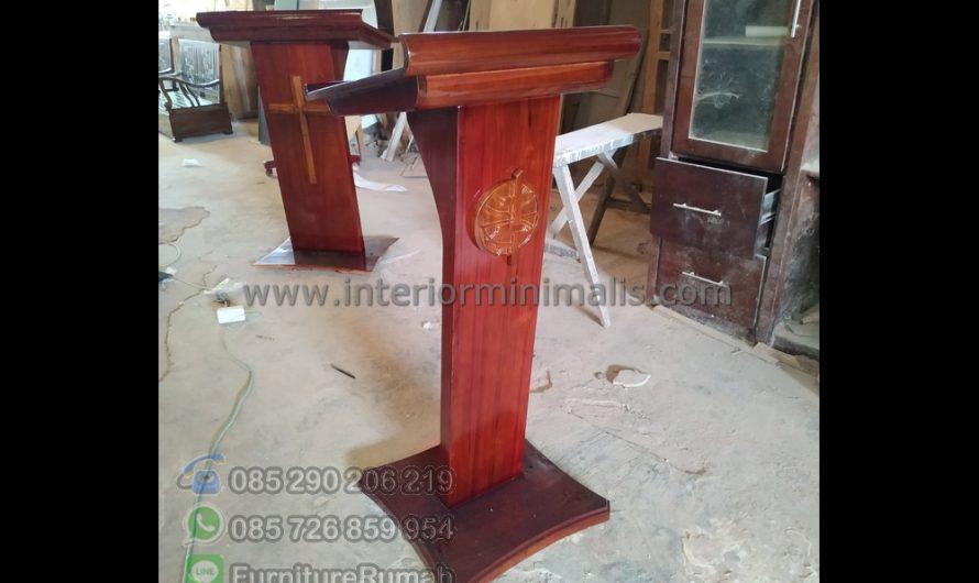 Paling Laku Ukuran Mimbar Masjid Minimalis MM 818