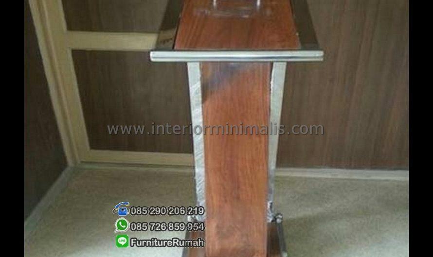 Produk Unggulan Harga Mimbar Kayu Jati MM 454