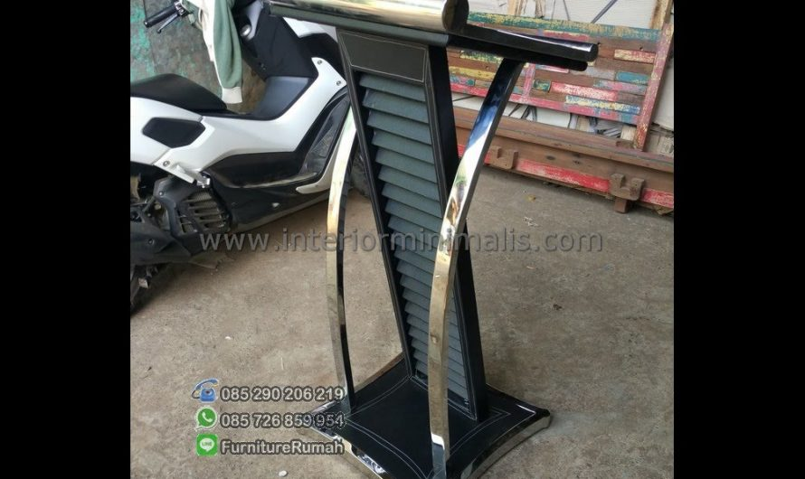 Produk Unggulan Mimbar Masjid Aluminium MM 550