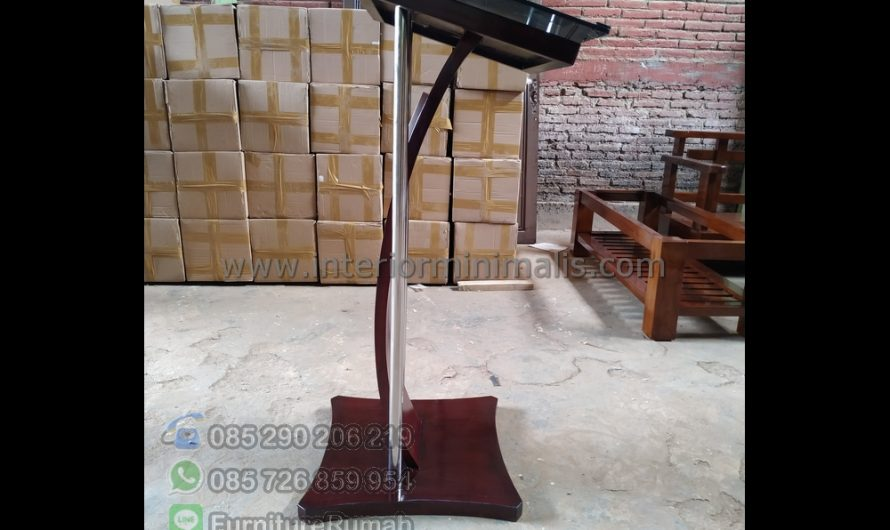 Special Produk Mimbar Minimalis Akrilik MM 786